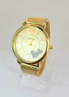 Damski zegarek ze złotą bransoletą