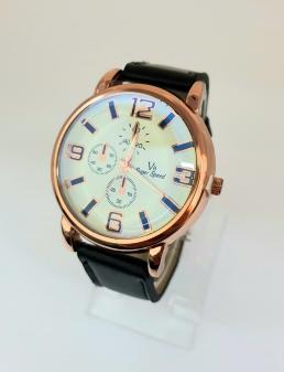 Męski zegarek ze skórzanym paskiem