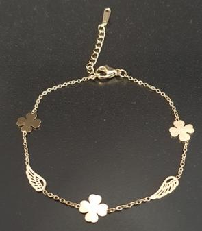 bransoletka ze stali chirurgicznej złota