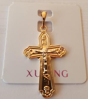 zawieszka krzyżyk złoty Xuping